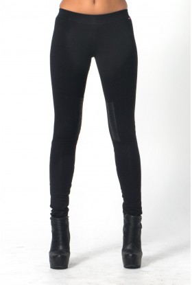 ELASTIC LEATHER LEGGINGS