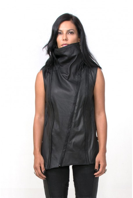 DAMAS LEATHER VEST